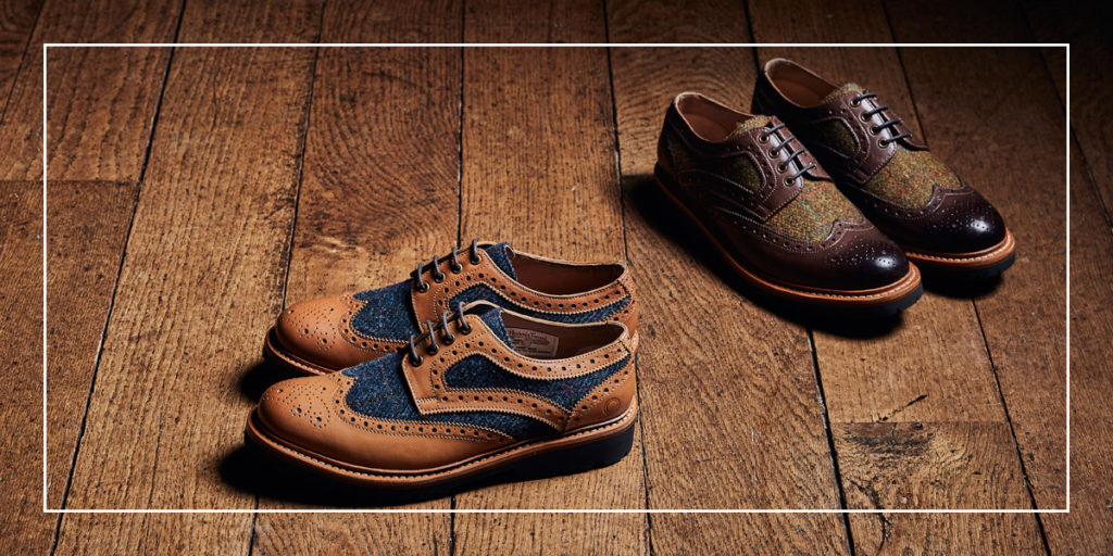 Hebrides Tweed Brogue Shoes