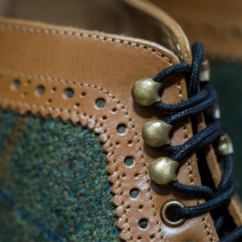 Stornoway II Tweed brogue boots
