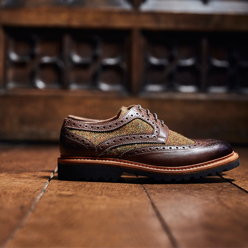 Hebrides Brown and Tweed Brogue Shoes