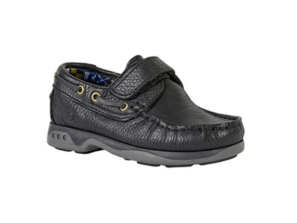 Anchor - Kids Leather Boat Shoes
