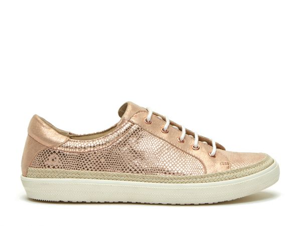 Margot - Leather Lace-Up Trainers