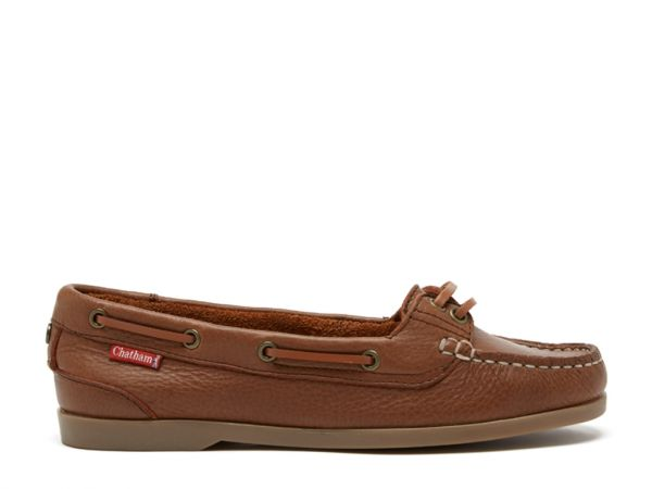 Harper - Brown Premium Leather Boat Shoes