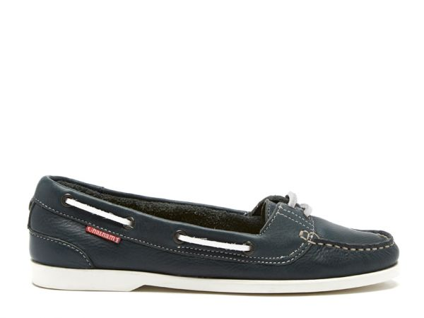 Harper - Navy Premium Leather Boat Shoes