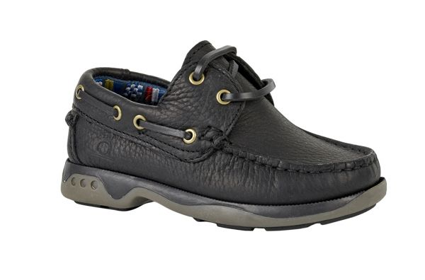 Skipper - Kids Leather Boat Shoes