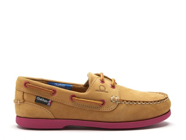 Pippa II G2 - Tan/Pink Leather Boat Shoes