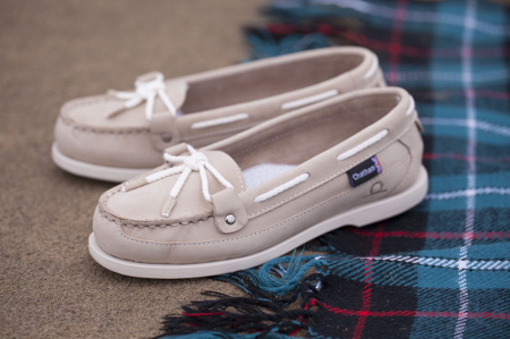Chatham Women's Alcyone II G2 Slip On Boat Shoes - Stone