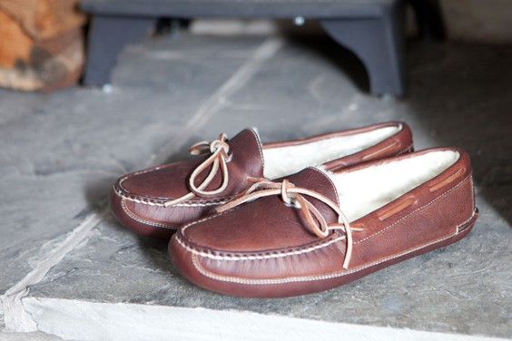 Crown Fur Lined Moccasin Slipper