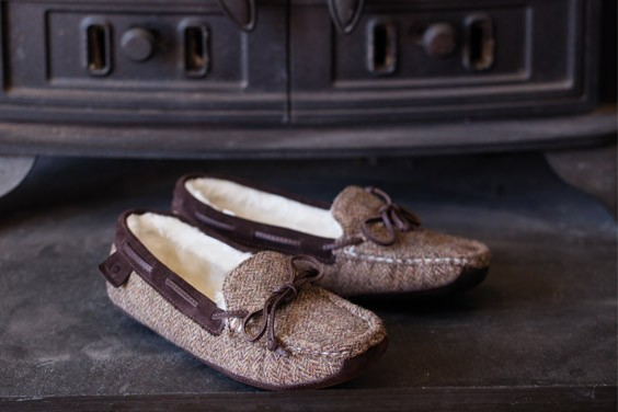 Eden Fur Lined Moccasin Slipper