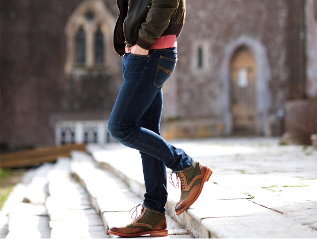 Stornoway High Ankle Tweed Brogue Boots