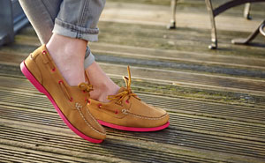 4fb3abdfb Chatham Women's Pippa II G2 Boat Shoes - Tan and Pink