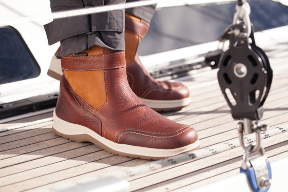 Chatham Men's Finn Waterproof Sailing Boots - Tan / Brown