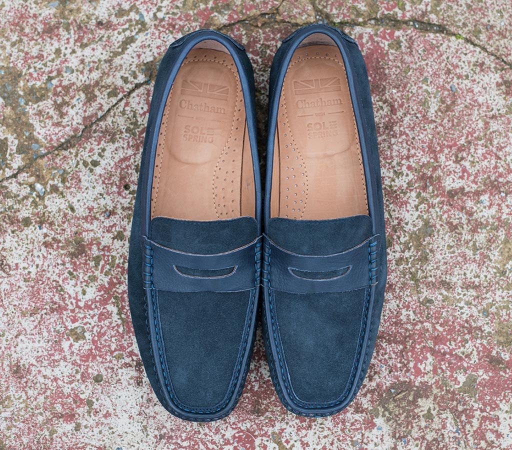 Toga Navy Suede Product Page